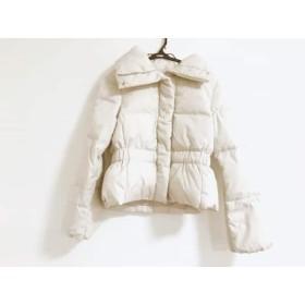 【中古】 アンタイトル UNTITLED ダウンジャケット サイズ2 M レディース ライトグレー ショート丈/冬物