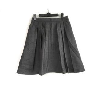 【中古】 マッキントッシュフィロソフィー スカート サイズ38 L レディース グレー プリーツ