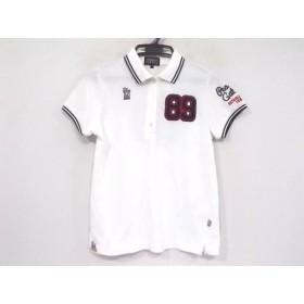 【中古】 パーリーゲイツ PEARLY GATES 半袖ポロシャツ サイズ0 XS レディース ネイビー レッド