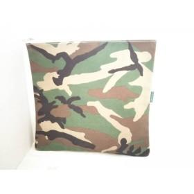 【中古】 テンベア TEMBEA クラッチバッグ ダークグリーン ダークブラウン マルチ 迷彩柄 キャンバス