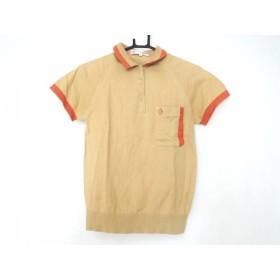 【中古】 クリスチャンディオールスポーツ 半袖ポロシャツ サイズS レディース ライトブラウン オレンジ