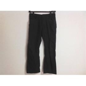【中古】 エポカ EPOCA パンツ サイズ46 XL メンズ ダークネイビー 黒 UOMO/ストライプ/ボタンフライ