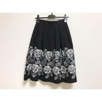 【中古】 ロイスクレヨン Lois CRAYON スカート サイズM レディース 黒 白 花柄