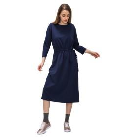ウェストドロストドレス(7分袖)