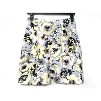 【中古】 フレイアイディー スカート サイズ0 XS レディース 美品 ライトブルー ライトグレー マルチ