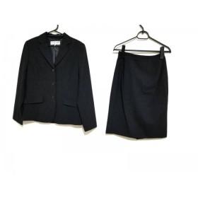 【中古】 ヴァンドゥ オクトーブル 22OCTOBRE スカートスーツ サイズ38 M レディース 黒 肩パッド