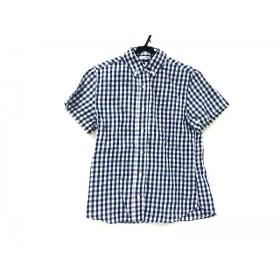 【中古】 エルフォーブル ELFORBR 半袖シャツ サイズ38 ユニセックス ブルー ホワイト
