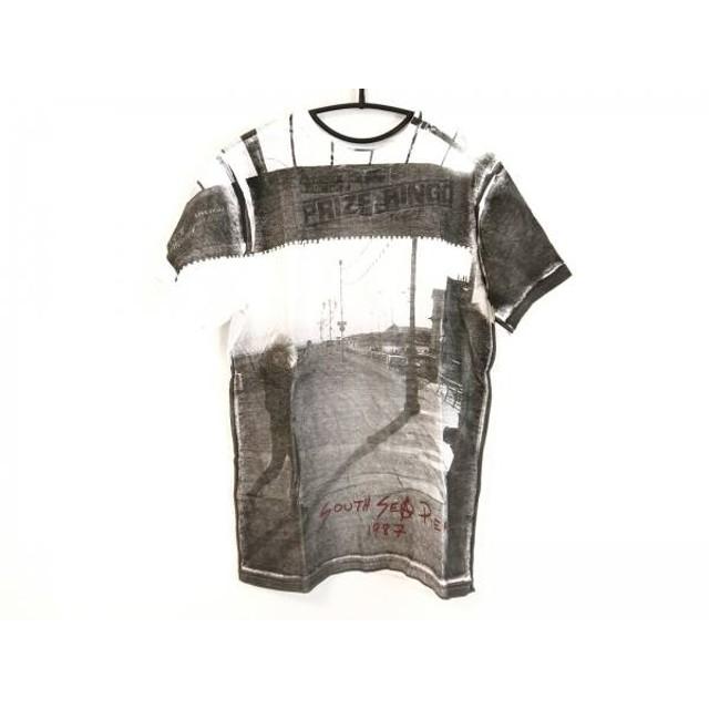 【中古】 ドクターマーチン Dr. Martens 半袖Tシャツ サイズM メンズ 白 ダークグレー レッド
