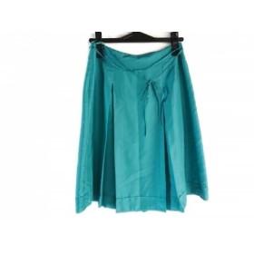 【中古】 トゥモローランド TOMORROWLAND スカート サイズ36 S レディース ダークグリーン プリーツ