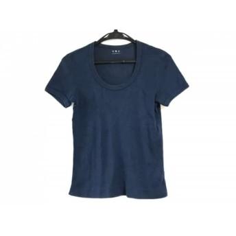 【中古】 スリードッツ three dots 半袖Tシャツ レディース ネイビー classic