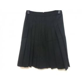 【中古】 セオリー theory スカート サイズ0 XS レディース 黒 プリーツ