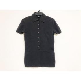 【中古】 ヒューゴボス HUGOBOSS 半袖ポロシャツ サイズS レディース 黒