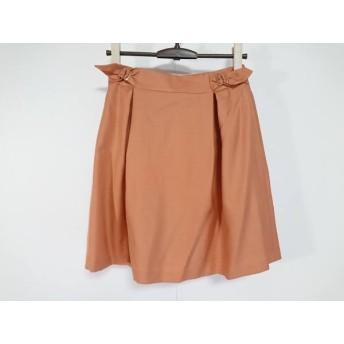 【中古】 エストネーション ESTNATION スカート サイズ36 S レディース 美品 オレンジ