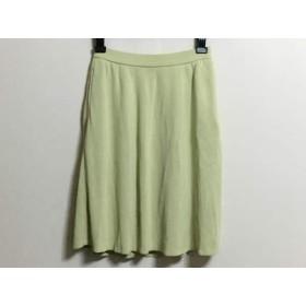 【中古】 フォクシー FOXEY スカート サイズ40 M レディース ライトグリーン BOUTIQUE/ニット
