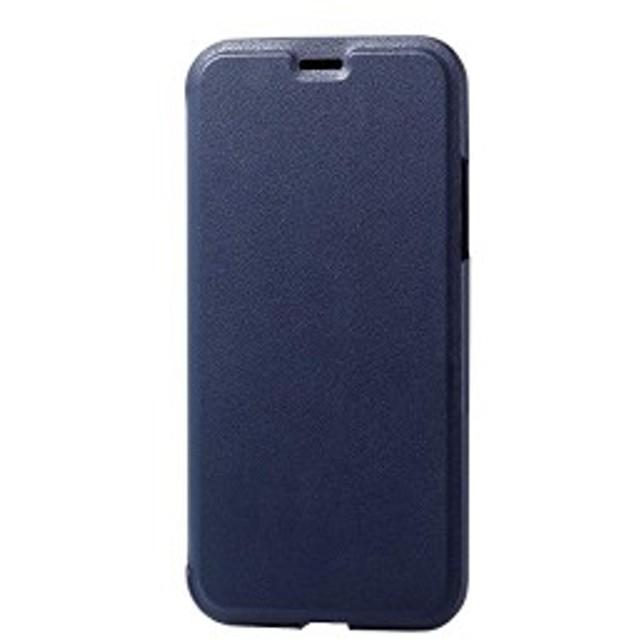 772c5fcf9d エレコム iPhone X ケース カバー 手帳型 レザー ジャストサイズのフラップで包み込む [端子