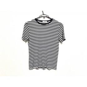 【中古】 ニジュウサンク 23区 半袖Tシャツ サイズ38 M レディース ネイビー 白 ボーダー