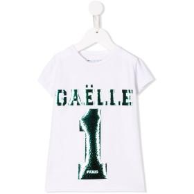Gaelle Paris Kids ロゴ Tシャツ - ホワイト