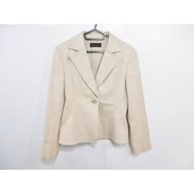 【中古】 アイシービー ICB ジャケット サイズ11 M レディース ベージュ