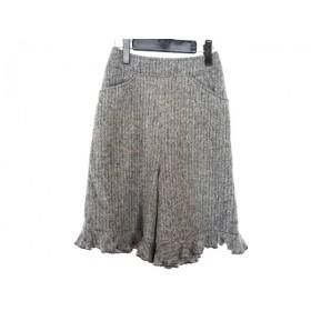 【中古】 エムズグレイシー ショートパンツ サイズ36 S レディース 美品 ヘリンボーン グレー フリル