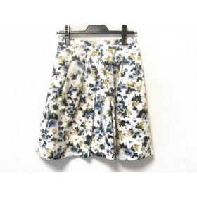【中古】 アプワイザーリッシェ スカート サイズ2 M レディース 白 イエロー マルチ 花柄
