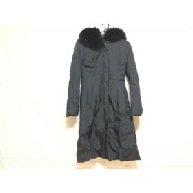 【中古】 マテリア MATERIA ダウンコート サイズ38 M レディース 美品 黒 冬物