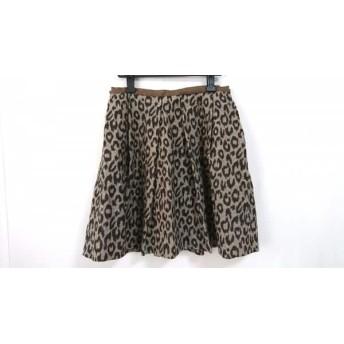【中古】 アドーア ADORE スカート サイズ38 M レディース ブラウン ダークブラウン 豹柄