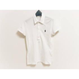 【中古】 ラルフローレン RalphLauren 半袖ポロシャツ サイズL レディース 白