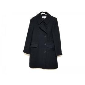 【中古】 マーガレットハウエル MargaretHowell コート サイズ2 M レディース 美品 黒 冬物