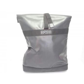 【中古】 ブリー BREE リュックサック 黒 PVC(塩化ビニール) 化学繊維