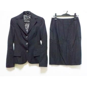 【中古】 ヒューゴボス HUGOBOSS スカートスーツ サイズ38(I) S レディース ダークブラウン