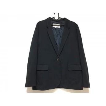 【中古】 アバハウス ABAHOUSE ジャケット サイズ2 M レディース 黒 レーヨンポリエステルポリウレタン