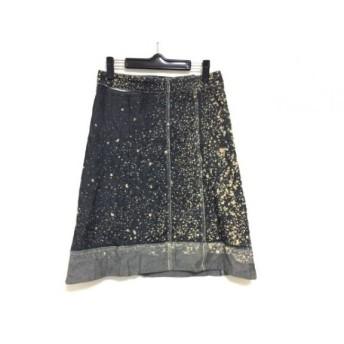 【中古】 ツモリチサト TSUMORI CHISATO スカート サイズ2 M レディース 黒 ベージュ ドット柄