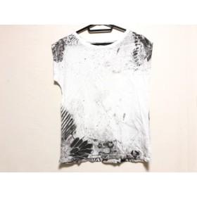 【中古】 ディーゼル DIESEL 半袖Tシャツ レディース 白 ダークグレー