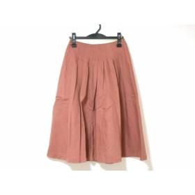 【中古】 ホコモモラ JOCOMOMOLA スカート サイズ40 XL レディース ピンクブラウン