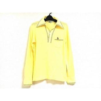 【中古】 マンシングウェア Munsingwear 長袖ポロシャツ サイズS メンズ イエロー Grand Slam