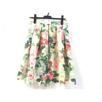 【中古】 セブンティ SEVENTY スカート サイズ42 L レディース グリーン マルチ