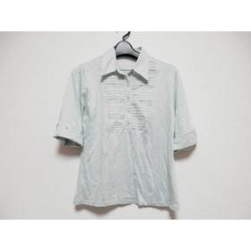 【中古】 ニジュウサンク 23区 半袖ポロシャツ サイズ40 M レディース ライトグリーン
