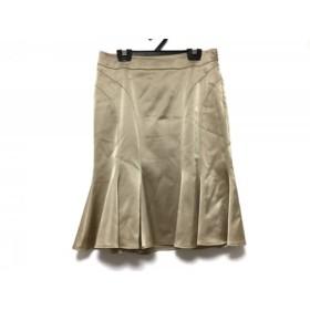 【中古】 マテリア MATERIA スカート サイズ36 S レディース ライトブラウン フリル