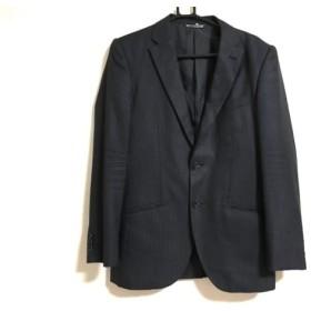 【中古】 フィッチェ FICCE ジャケット メンズ 黒 パープル ダークネイビー ストライプ/COLLEZIONE