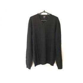 【中古】 ヒューゴボス HUGOBOSS 長袖セーター サイズL メンズ 美品 黒