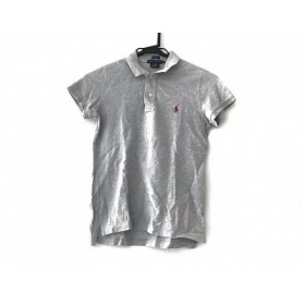【中古】 ラルフローレン RalphLauren 半袖ポロシャツ サイズM レディース ライトグレー