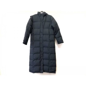 【中古】 エルエルビーン L.L.Bean ダウンコート サイズS レディース 黒 冬物/ロング丈