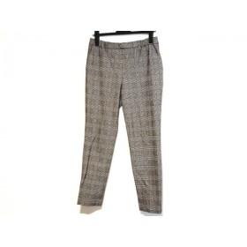 【中古】 ジユウク 自由区/jiyuku パンツ サイズ40 M レディース 黒 白 チェック柄/ウエストゴム