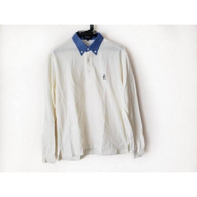【中古】 パーリーゲイツ PEARLY GATES 長袖ポロシャツ サイズ1 S メンズ アイボリー ブルー