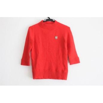 【中古】 バーバリーブルーレーベル 七分袖セーター サイズ38 M レディース レッド ハイネック
