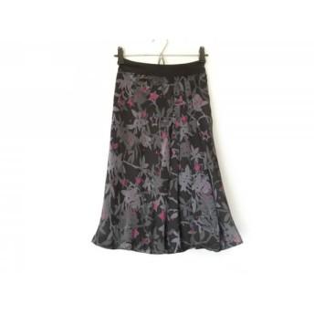 【中古】 ソニアリキエル スカート サイズ30 XS レディース 黒 ダークグレー グレー ピンク