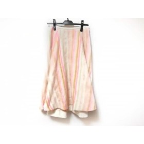 【中古】 チェスティ Chesty ロングスカート サイズ1 S レディース 美品 アイボリー オレンジ マルチ