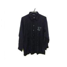 【中古】 バレンザポースポーツ VALENZA PO SPORTS 長袖シャツ サイズ40 M メンズ 黒