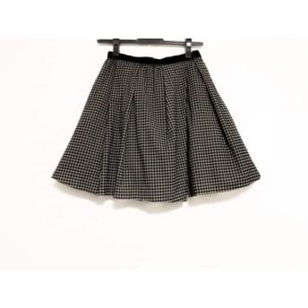 【中古】 アプワイザーリッシェ ミニスカート サイズ0 XS レディース グレージュ 黒 グレー
