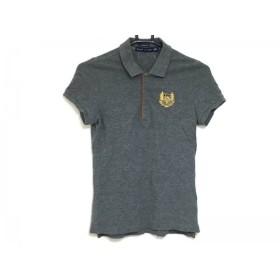 【中古】 ラルフローレン RalphLauren 半袖ポロシャツ サイズXS レディース 美品 ダークグレー ブラウン